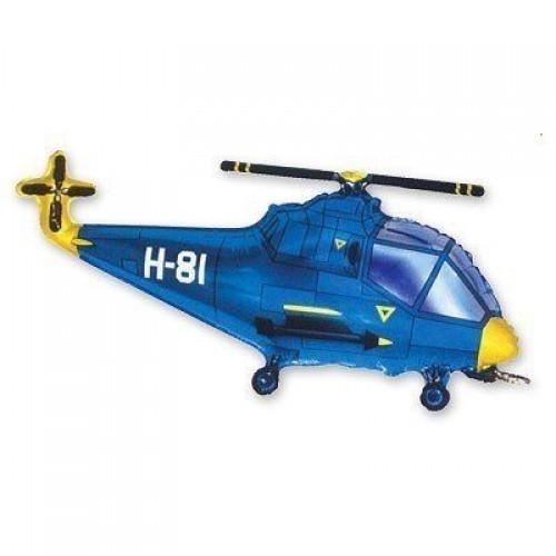 Фигура вертолет синий (fm БФ)