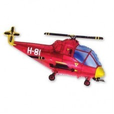 Фигура вертолет красный (fm БФ)