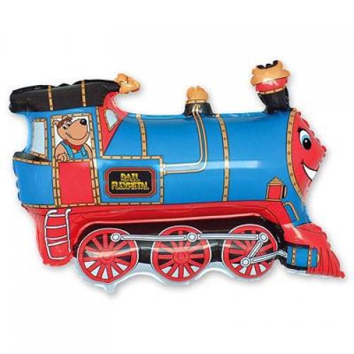 Фигура поезд голубой (fm БФ)