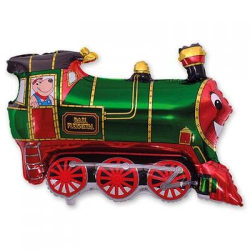 Фигура поезд зеленый (fm БФ)