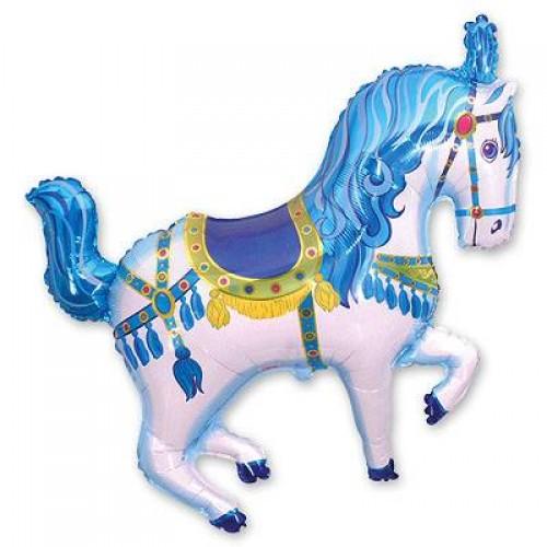 Фигура лошадь цирковая голубая (fm БФ)