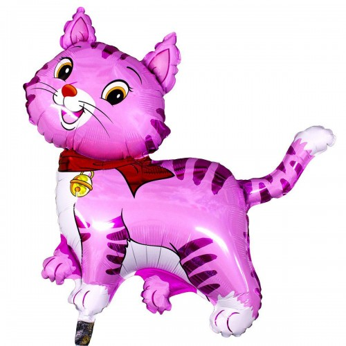 Фигура кошечка с шарфом розовая (fm БФ)