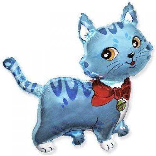 Фигура кошечка с шарфом голубая (fm БФ)