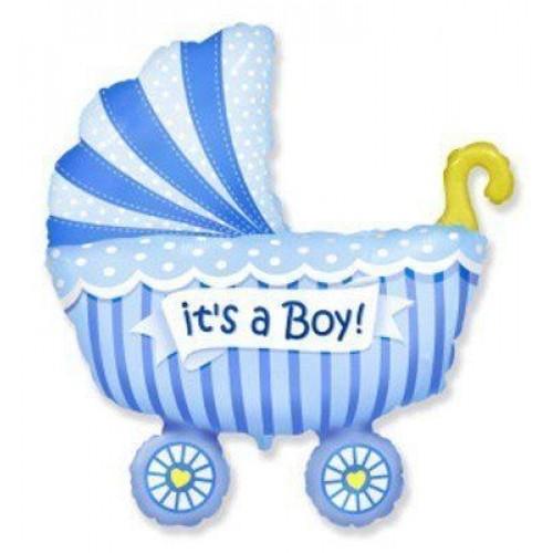 МФ коляска детская голубая (FM)
