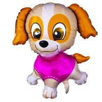 Фигура щенок в розовом  (fm БФ)