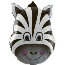 Зебра голова фольгированная фигура (Китай БФ)