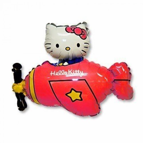 Фигура hello kitty на красном самолете  (fm БФ)