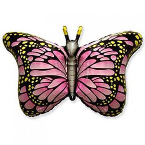 Фигура фольгированная Бабочка розовые крылья  (fm БФ)