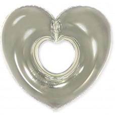 Фігура серце срібне (fm БФ)