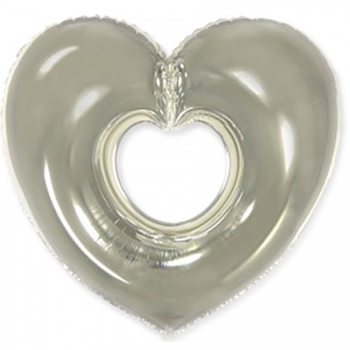 Фигура сердце серебрянное  (fm БФ)