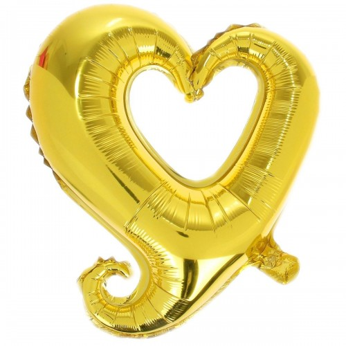 Фигура сердце золотое вензель  (fm БФ)