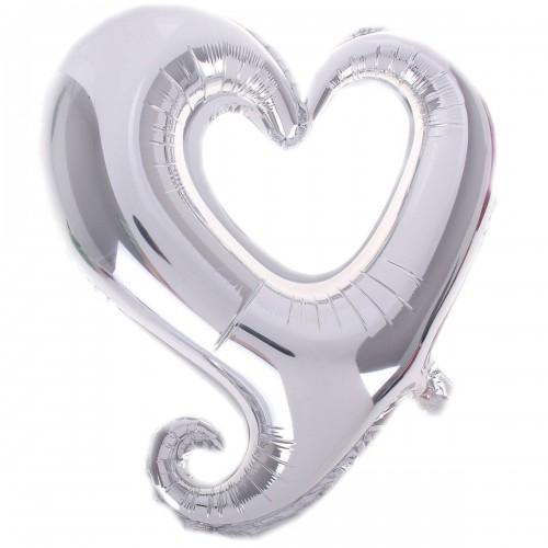 Фигура сердце серебрянное вензель  (fm БФ)