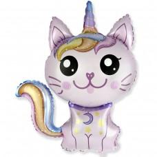 Большая фигура кошка-единорог розовая (fm Испания) БФ