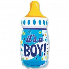 Большая фигура Бутылка голубая  IT'S A BOY Flexmetal (Испания)