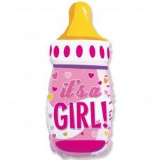 Большая фигура Бутылка розовая  IT'S S GIRL Flexmetal (Испания)