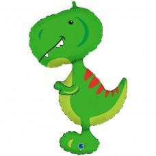 Большая фигура тиранозавр зеленый (Grabo Италия)