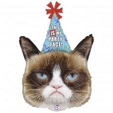 Фигура Грампи кэт в колпаке Сердитая кошка Grumpy cat (Grabo Италия) БФ