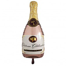 Бутылка шампанского розовое золото (Китай БФ)