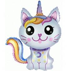МиниФигура шар кошка-единорог голубая (fm Испания)