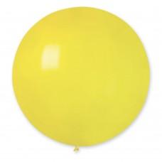 """18 """"(46см) куля латексна пастель жовта / 02 (1шт) Gemar (Італія)"""