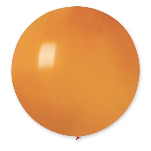 """31""""(78см) шар латексный пастель оранжевый/04 (1шт) Gemar (Италия)"""