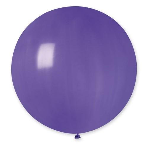 """31""""(78см) шар латексный пастель фиолетовый/08 (1шт) Gemar (Италия)"""