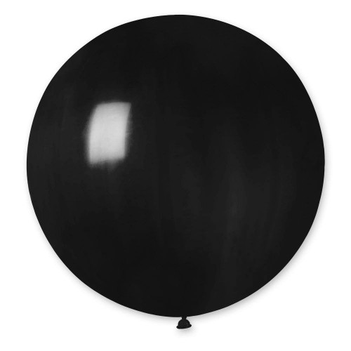 """31 """"(78см) куля латексна пастель чорна / 14 (1шт) Gemar (Італія)"""