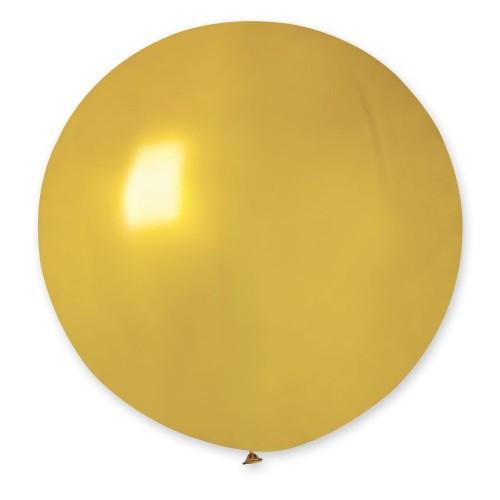 """31""""(78см) шар латексный металлик золото/39 (1шт) Gemar (Италия)"""