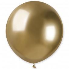"""18"""" (46см) латексный шар ХРОМ золото Gemar Италия (1шт)"""