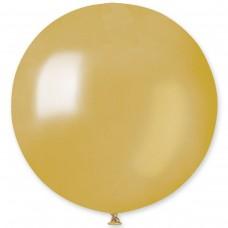 """31 """"(78см) куля латексна металік сатин золота / 74 (1шт) Gemar (Італія)"""