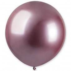 """18"""" (46см) латексный шар ХРОМ розовый Gemar Италия (1шт)"""