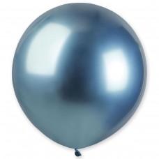 """18"""" (46см) латексный шар ХРОМ синий Gemar Италия (1шт)"""