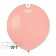 """18 """"(46см) куля латексна пастель ніжно-рожева / 73 (1шт) Gemar (Італія)"""