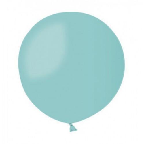 """31""""(78см) шар латексный пастель аквамарин/50 (1шт) Gemar (Италия)"""