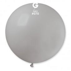 """18 """"(46см) куля латексна пастель сіра / 70 (1шт) Gemar (Італія)"""