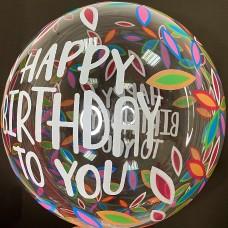 "20"" (50см) Баблс з принтом Happy Birthday"
