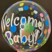 """20"""" (50см) Баблс з принтом Welcome baby"""
