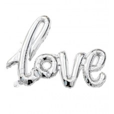 """Шар """"LOVE"""" серебро 100см"""