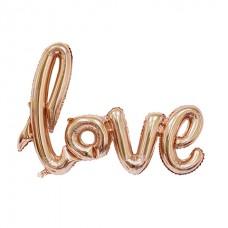 """Шар """"LOVE"""" розовое золото 100см"""
