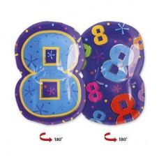 Цифра 8 фигура мульти (45см)