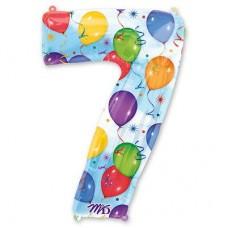 Цифра 7 шары (86см)