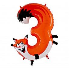 Цифра 3 лисиця (86см)