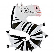 Цифра 5 зебра (86см)