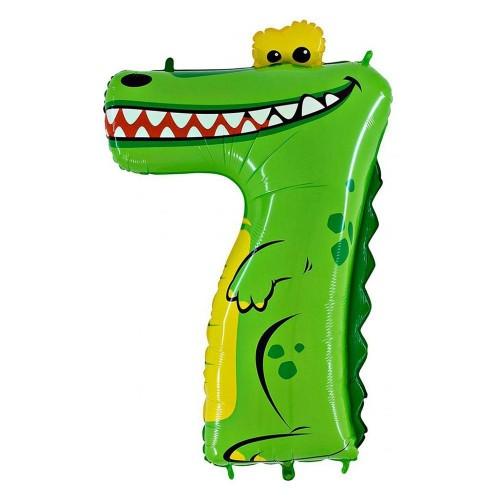 Цифра 7 крокодил (86см)