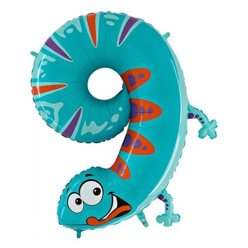 Цифра 9 ящерица (86см)