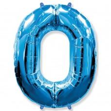 Цифра 0 blue (100см)