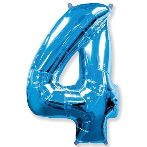 Цифра 4 blue (100см)