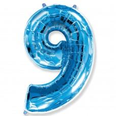 Цифра 9 blue (100см)
