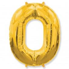Цифра 0 gold (100см)