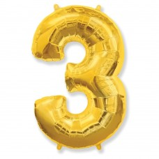 Цифра 3 gold (100см)